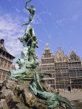 Brabo Statue  Antwerp  Belgium