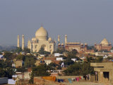 Taj Mahal on the Banks of the Yamuna River  Built by Shah Jahan for His Wife  Agra  India