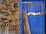 El Camino Pilgrimage to Santiago De Compostela  Scallop Shells and Walking Sticks  Galicia  Spain