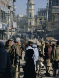 Street Scene in the Bazaar  Peshawar  North West Frontier Province  Pakistan  Asia