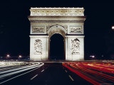 Arc De Triomphe at Night  Paris  France  Europe