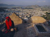 View Over Ajmer  Rajasthan State  India  Asia
