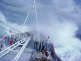 Rrs Bransfield in Rough Seas En Route to Antarctica  Polar Regions