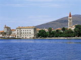 Waterfront with St Lawrence's Cathedral  Trogir  Central Dalmatia Region  Croatia  Europe