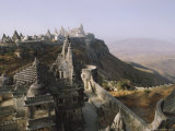 Jain Holy Hill and Temple Complex  Mount Girnar  Junagadh (Junagarh)  Gujarat  India