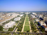 Washington Mall and Capitol Building from the Washington Monument  Washington DC  USA