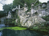 Fountains in the Gardens of the Villa Lante  Bagnaia  Lazio  Italy  Europe