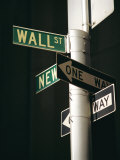 Wall Street Sign  New York City  New York State  USA