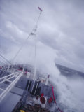 Ship in Rough Seas  Antarctic Ocean  Antarctica