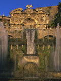 Grand Fountain in the Gardens of the Villa d'Este  Unesco World Heritage Site  Tivoli  Lazio  Italy