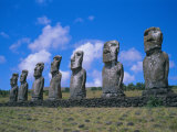Ahu Akiui  Easter Island  Chile  Pacific