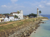 Colonial Buildings and Lighthouse  Galle  Sri Lanka