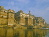 The Waterfront at Varanasi  Previously Known as Benares  on the Ganges River  Uttar Pradesh  India