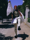 Evzones (Ceremonial Guard)  Parliament Building  Syntagma Square  Athens  Greece  Europe