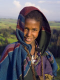 Portrait of Local Girl  Unesco World Heritage Site  Simien Mountains National Park  Ethiopia