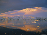 Coastal Landscape Lit by the Midnight Sun  Antarctic Peninsula  Antarctica