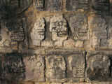 Detail  Mayan Ruins  Chichen Itza  Unesco World Heritage Site  Yucatan  Mexico  Central America