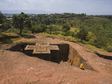The Sunken Rock Hewn Church of Bet Giyorgis (St George)  Lalibela  Northern Ethiopia  Ethiopia