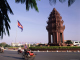 The Independence Monument  Phnom Penh  Cambodia  Indochina  Southeast Asia  Asia
