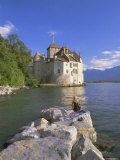 Chateau Chillon  Lake Geneva (Lac Leman)  Switzerland  Europe