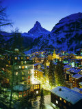 Zermatt and the Matterhorn Mountain in Winter  Zermatt  Swiss Alps  Switzerland  Europe
