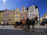 The Rynek (Town Square)  Wroclaw  Silesia  Poland  Europe