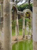 Hadrian's Villa  Canopus Canal  Tivoli  Lazio  Italy  Europe