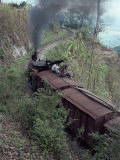 Steam Train on the Way to Darjeeling  West Bengal State  India  Asia