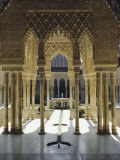 Moorish Architecture of the Court of the Lions  the Alhambra  Granada  Andalucia (Andalusia)  Spain