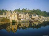 Port of Dinan  La Rance  Brittany  France  Europe