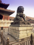 Lion Statue  Forbidden City  Beijing  China  Asia