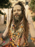 Portrait of a Hindu Holy Man (Saddhu)  Varanasi (Benares)  Uttar Pradesh State  India  Asia