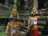 Traditional Cambodian Dancers  Angkor Wat  Siem Reap  Cambodia  Indochina  Asia