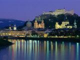 Kollegienkirche  Cathedral and Hohensalzburg Fortress  Salzburg  Austria  Europe