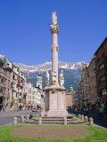 Annasaule Monument in the Centre of Innsbruck  Tirol  Austria