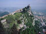 Castle Atop Mountain Peak  San Marino Republic