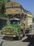 Typical Decorated Truck  Karakoram (Karakorum) Highway  Gilgit  Pakistan