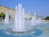 Place and Espace Massena Fountains  Nice  Cote d'Azur  French Riviera  Provence  France  Europe