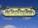 Art Deco Metropolitain (Subway) Sign  Paris  France  Europe
