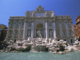The Baroque Style Trevi Fountain  Rome  Lazio  Italy  Europe