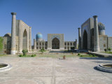 Registan Square  Samarkand  Uzbekistan  Central Asia