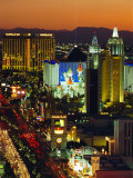 Elevated View of Casinos on the Strip  Las Vegas  Nevada  USA