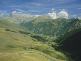 View from the Col De Vars  Near Barcelonnette  Haute-Alpes  French Alps  Provence  France  Europe
