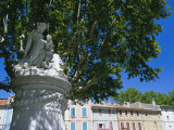 Roman Statue  Old Town  Orange  Vaucluse  Provence  France  Europe