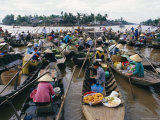 Morning Floating Market  Phung Heip  Mekong Delta  Vietnam