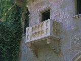 Juliet's Balcony  Verona  Unesco World Heritage Site  Veneto  Italy  Europe