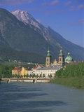 Buildings Along the Inn River  Innsbruck  Tirol (Tyrol)  Austria  Europe