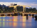 Magere Brug  the Skinny Bridge  Amsterdam  Netherlands