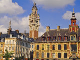 Flemish Houses  Belfry of the Nouvelle Bourse and Vielle Bourse  Grand Place  Lille  Nord  France