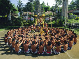Performance of the Famous Balinese 'Kecak' Dance  Bali  Indonesia
